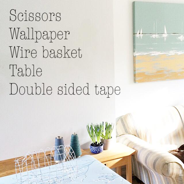Laura Ashley Wallpaper DIY woven basket