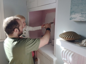 Painting the alcoves pink