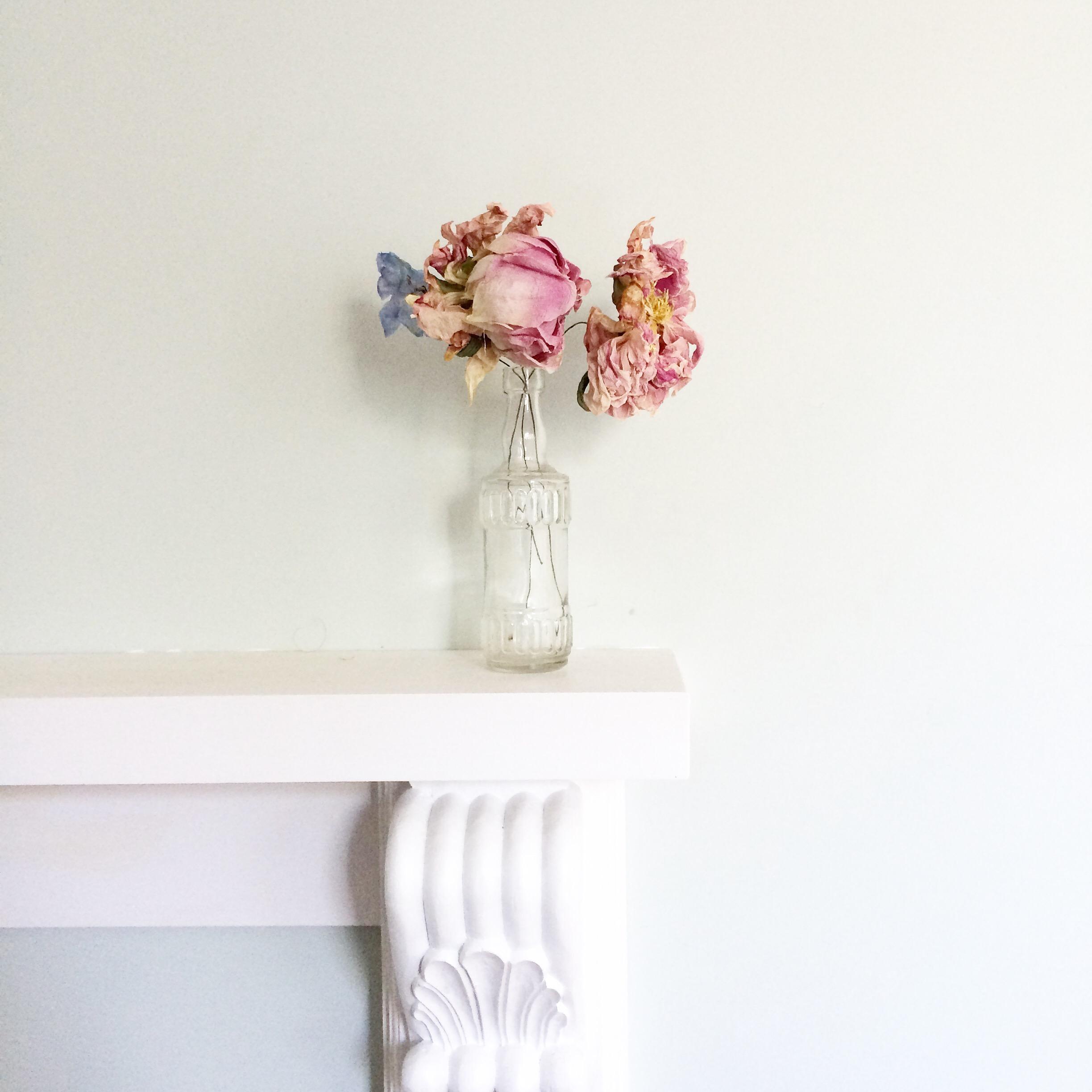 vintage flowers blush